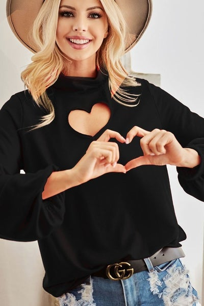 Heart Cut Out Top