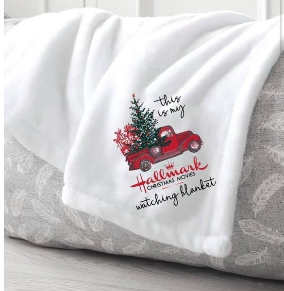 """This is my """"Christmas Movie Watching"""" Blanket"""