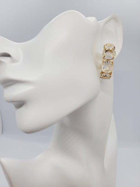 Rhinestone Statement Hoop Earrings