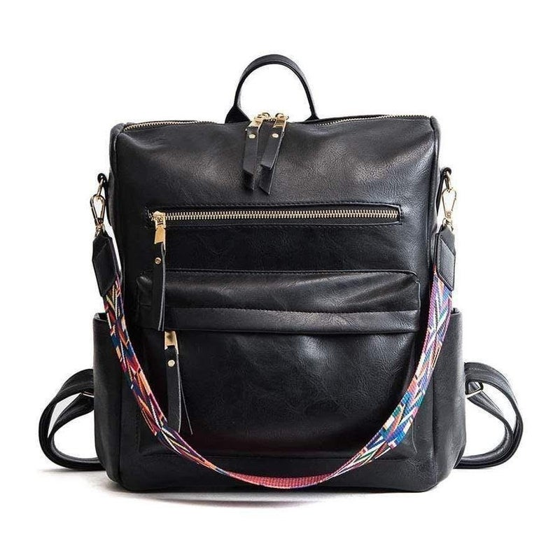 Trendy Back Pack with Guitar Strap