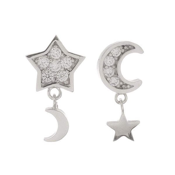 Star & Moon Dainty Earrings