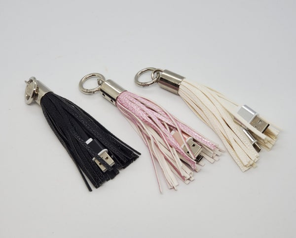 Apple & Android Tassel Keychain Chargers