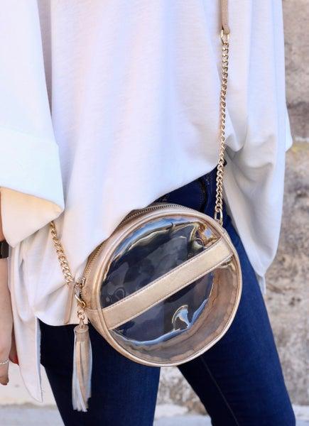 Circular Clear Crossybody Bag