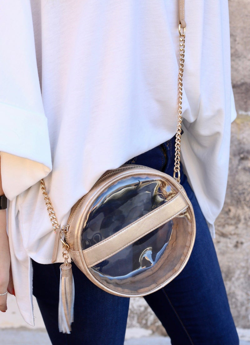 Circular Clear Crossybody Bag