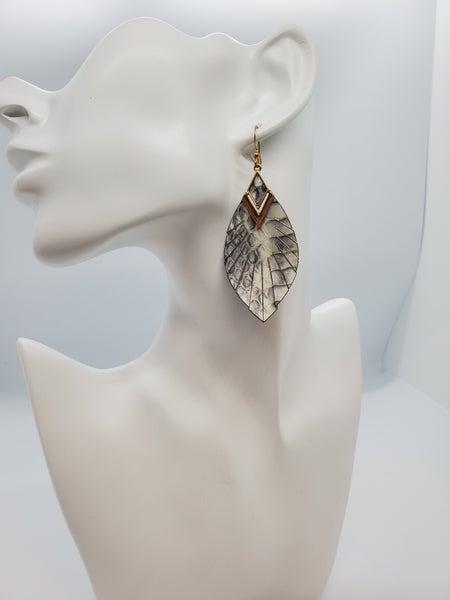 Boho Leather Earrings