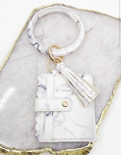 White Marble Bangle Wallet