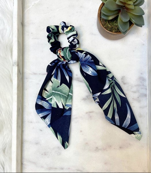 Floral Scarf Hair Tie