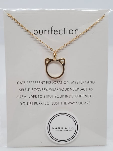 Cat Ears Dainty Necklace