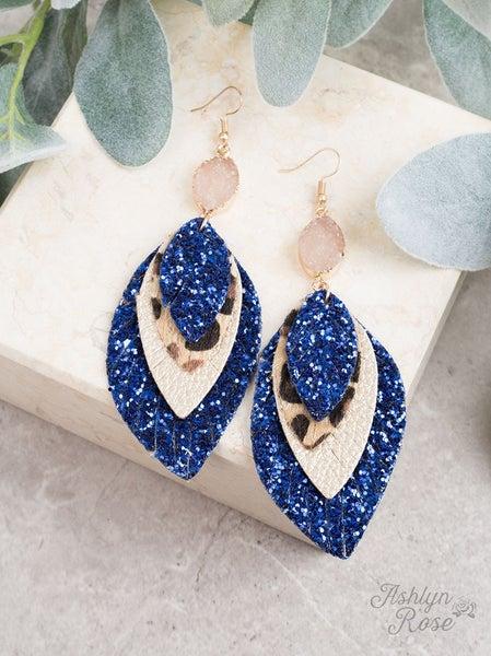 Layered Leopard & Glitter Earrings