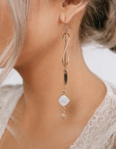 Shell & Star Drop Earrings