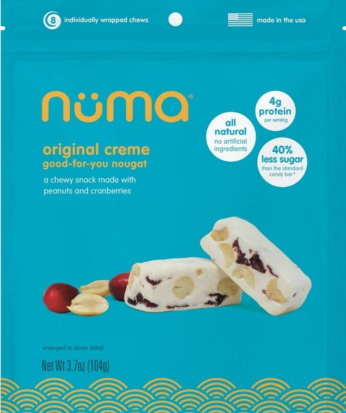 Natural Creamy Candy with Peanuts and Dried Cranberries