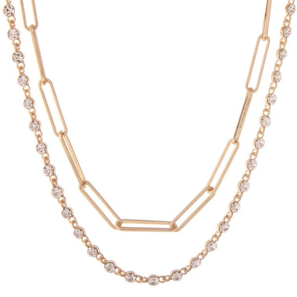 Chain & Crystal Necklace