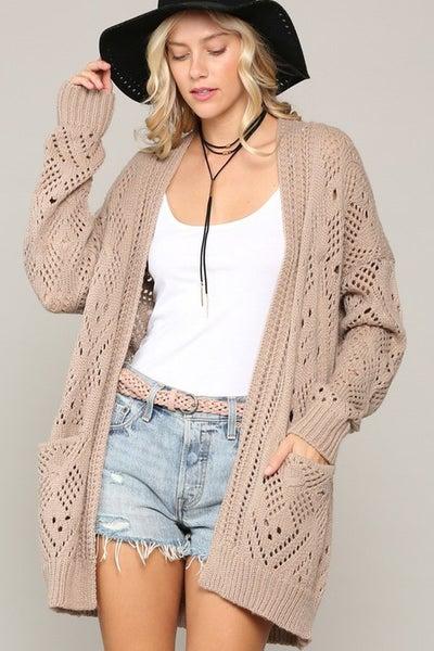 Cozy Knit Cardigan with Pockets