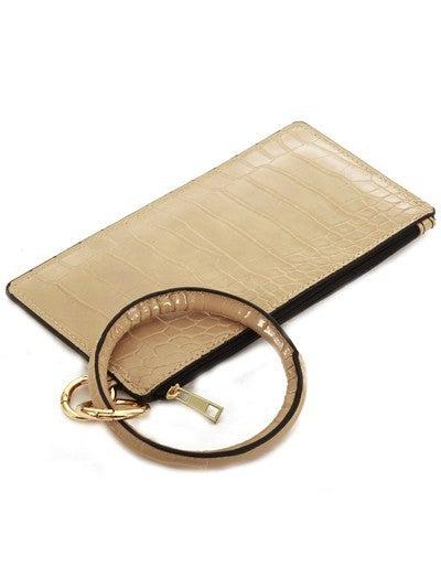 Leather Keychain Wallet  ALLIGATOR