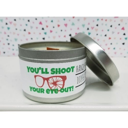 Wooden Wick Candle- You'll Shoot Your Eye Out