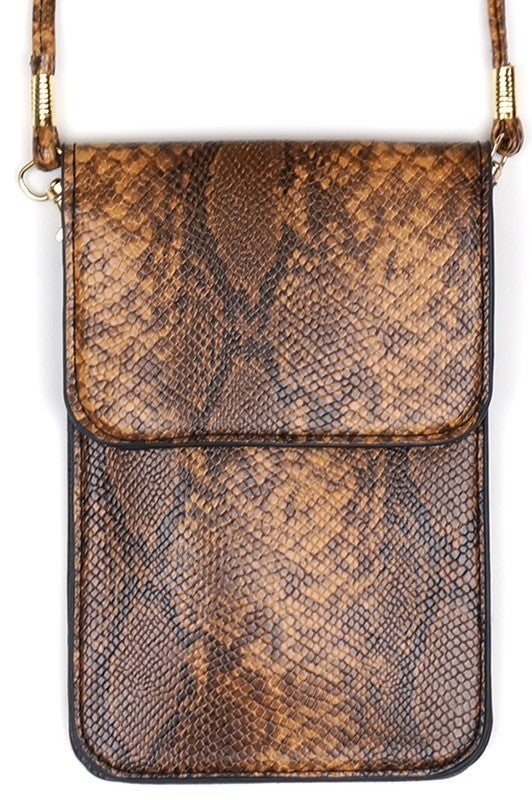 Snake Cellphone Crossbody with Clear Window
