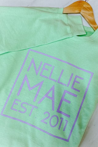 Nellie Mae Logo Sweatshirt - Lime
