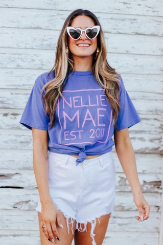 Nellie Mae Logo Tee - Purple