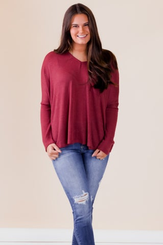 Speckled Long Sleeve Good Times Top
