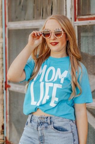 Mom Life Tee - Blue