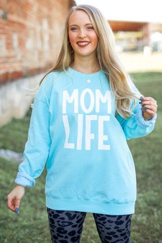 Mom Life Sweatshirt - Blue