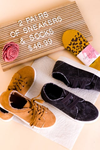 Bundle #3: 2 Pairs of Sneakers + Slip on Sock