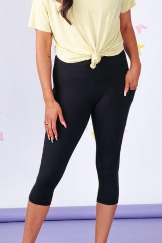 Feel So Good Capri Leggings With Pockets