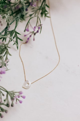 Outer Shell Initial Necklace