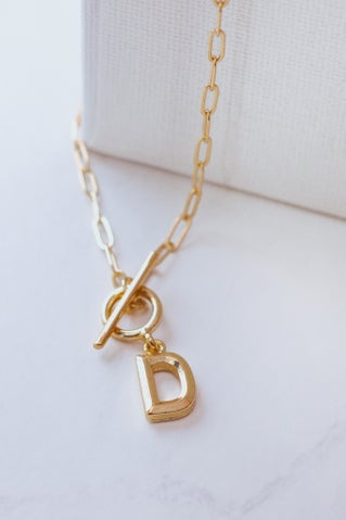 Call Me Out Initial Necklace