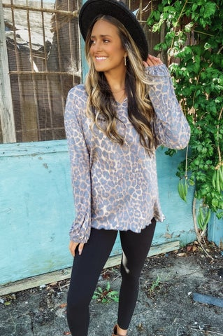 Set For Life Top - Leopard