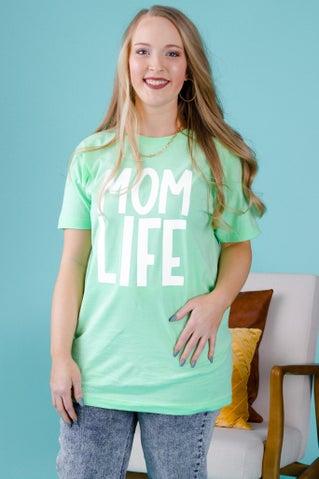 Mom Life Tee - Mint