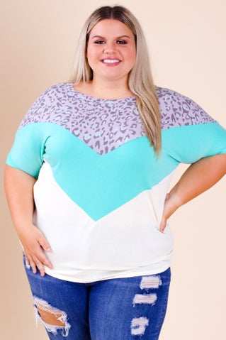 In The Air Color Block Top