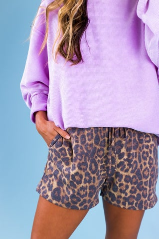 Leopard Heartless Shorts
