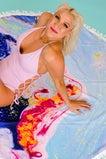 Summertime's Calling Round Beach Towel