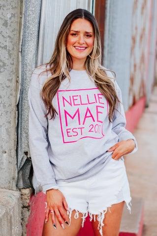 Nellie Mae Logo Sweatshirt - Grey