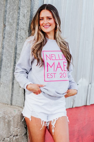 Nellie Mae Logo Sweatshirt - Grey