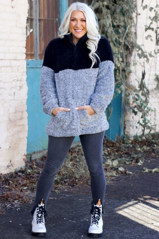 Call Me Anytime Sherpa Pullover