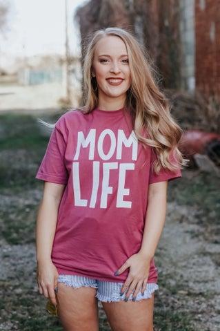 Mom Life Tee - Purple
