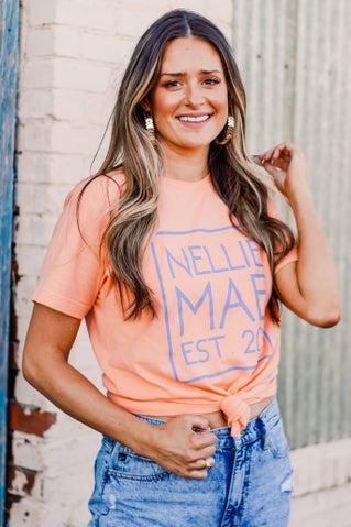 Nellie Mae Logo Tee - Cantaloupe