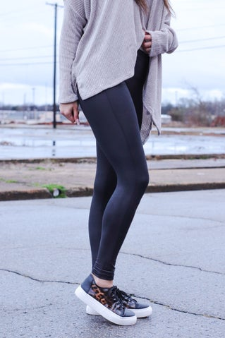 In Control Cracked Leather Leggings