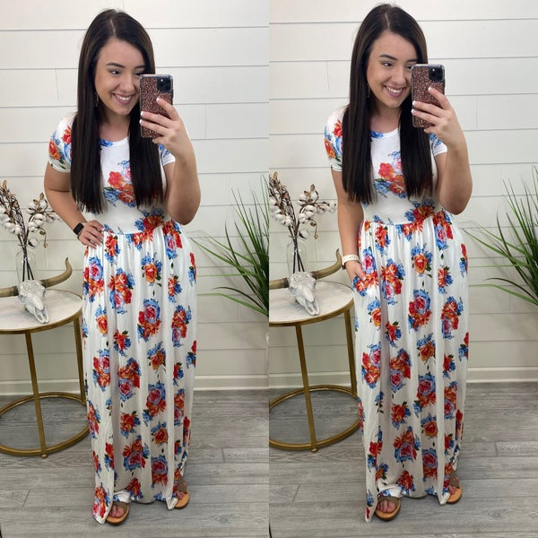 Know Your Worth Floral Maxi Dress - FINAL SALE