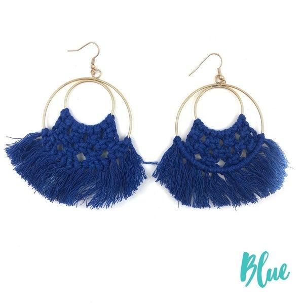 Boho Love Earrings *Final Sale* - Blue