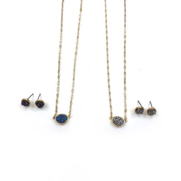 Black Thursday 2020 - Druzy Stone Necklace *Final Sale*