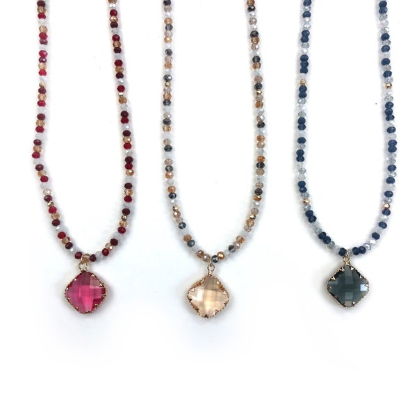 Black Thursday 2020 - Stone Necklace *Final Sale*