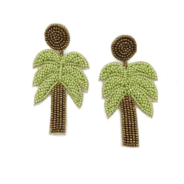 Enjoy The Moment Palm Tree Earrings