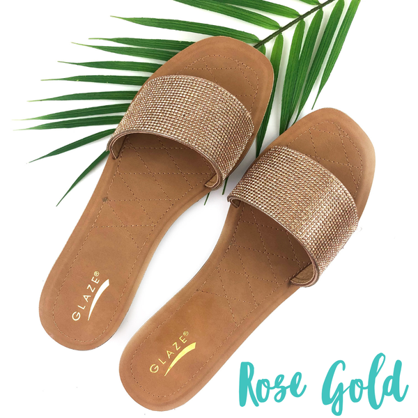 Shimmer in the Sun Sandals *Final Sale* - Rose Gold