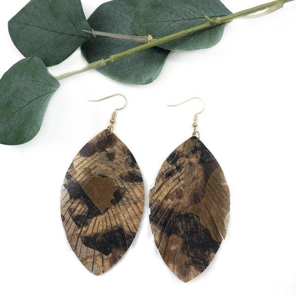 Leopard Pleather Earrings *Final Sale*
