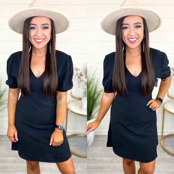 Got It All Babydoll Dress *Final Sale* - Black