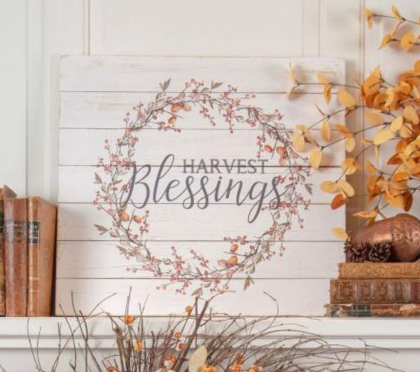Harvest Blessings Sign *Final Sale*