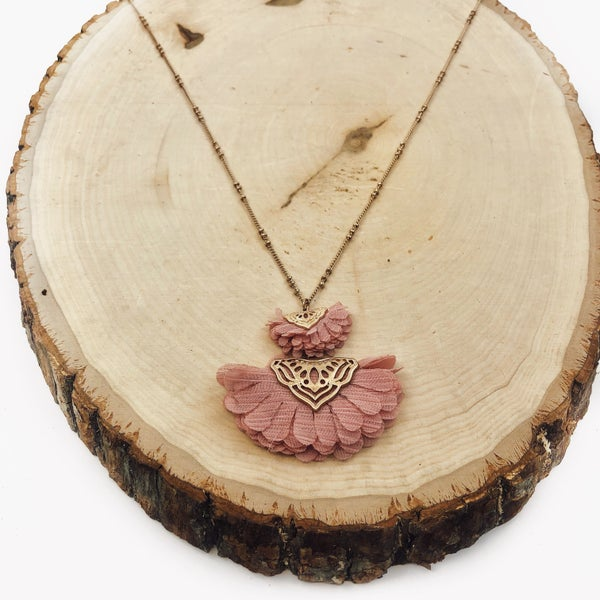 Paper Flower Necklace